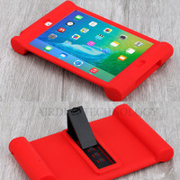 For IPad Mini 1 2 3 Retina Kids Safe Shockproof Rubber Silicone Case Stand Cover W