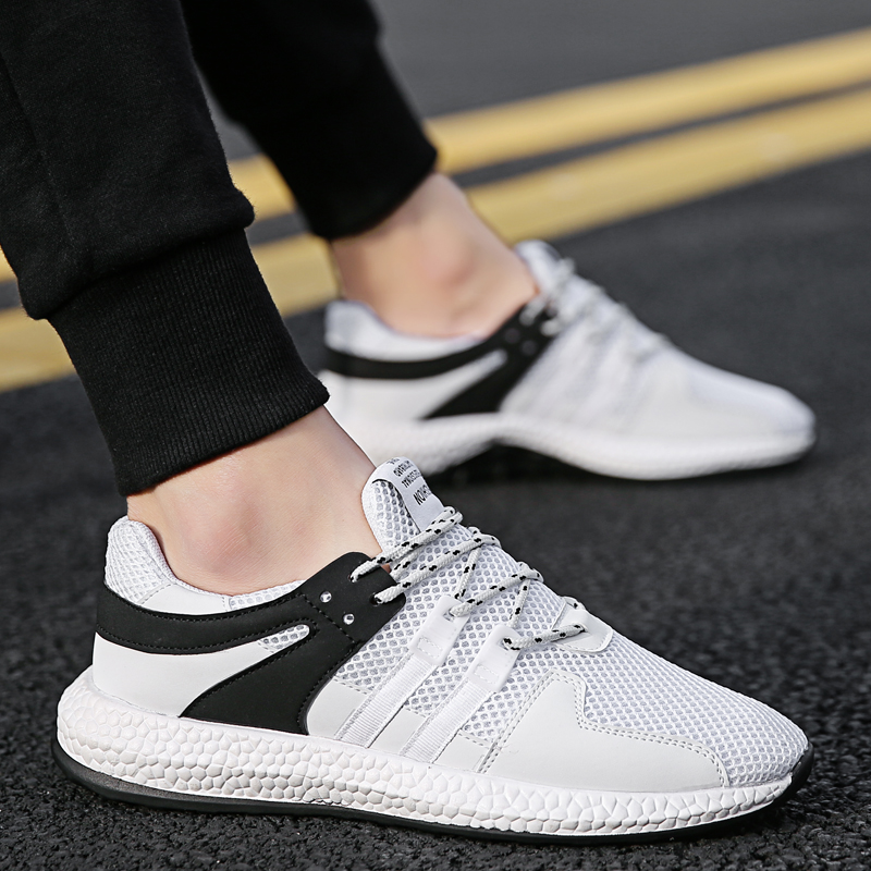 2018 High Quality Men Casual Shoes New Style Male Casual Shoes Spring and Autumn Student Flat Casual Shoes 39 44 5 in Men 39 s Casual Shoes from Shoes