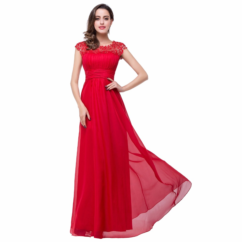 Long red bridesmaids dresses promotion shop for promotional long red ruched chiffon lace bridesmaid dresses long 2017 sexy sheer open back formal wedding guest prom gowns dress vestido de festa ombrellifo Choice Image