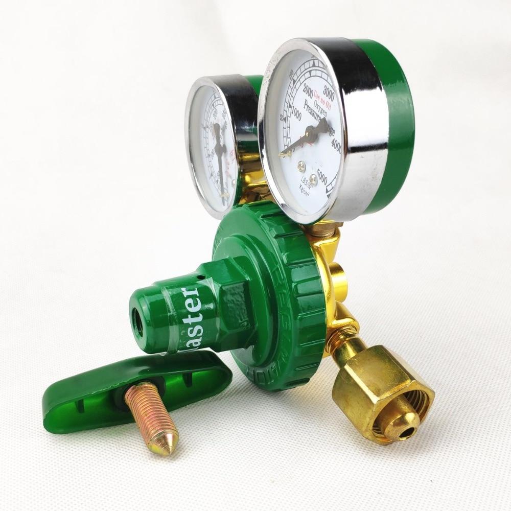 Tools : Oxygen Regulator 0-350kg cm2  0-35MPa 0-5000psi  to 0-25kg cm2  0-2 5MPa  G5 8 Inlet Dual Gauge Welding Cutting Gas Pressure Reg