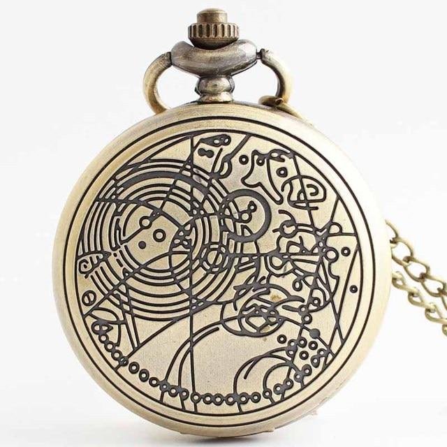 Bronze Vintage Hand Wind With Keychain Steampunk Mechanical Pocket Watch Men Ret
