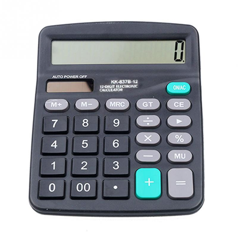 Finance Calculator Office 12-Digit Solar/battery-Powered Electronic Commercial-Tool 147--118mm