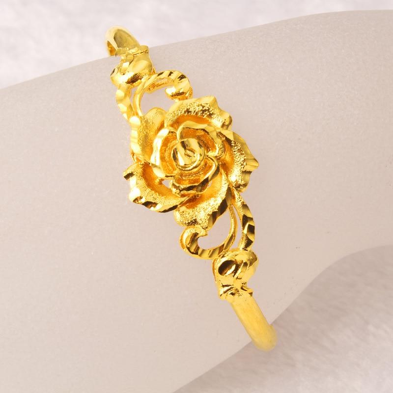 Euro coins plated 18k gold jewelry 24K gold bracelet Ms. bracelet ...