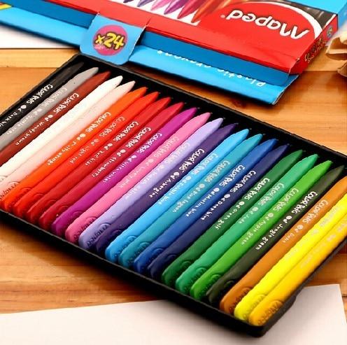 Non-toxic wax Crayon 12~36Colors edible kids drawing Supplies eraseable Crayon art supplies school kingdergartern supply AKP008
