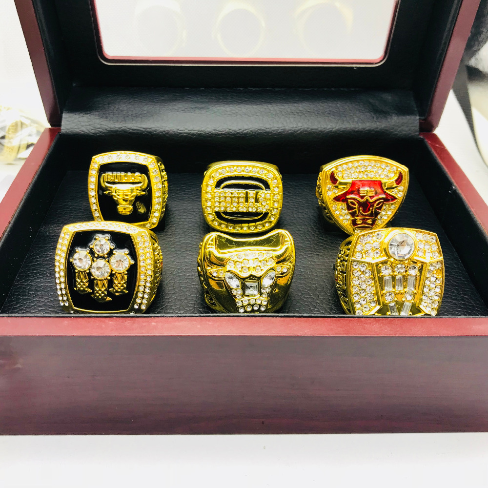 1991 1992 1993 1996 1997 1998 Bllu Basketball replica Championship ring set for men fine jewelry