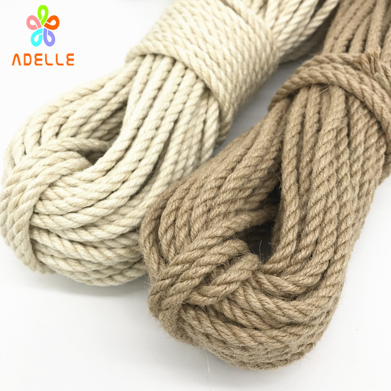 Image 2 - 2 colors twisted shibari bondage jute twine rope 4/5/6mm adult sex toys rope strong DIY gardening free shipping 25m-in Cords from Home & Garden