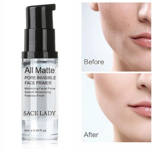 SACE señora 30/12/6 ml Primer rostro maquillaje todo mate hacer Fundación pore minimizer vitamina e praimer de aceite de control TSLM1
