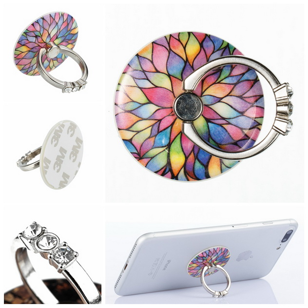 Mobile Phone Holders & Stands Painstaking Mobile Phone Ring Bracket Lazy Stent Cell Phone Buckle Metal Band Diamond Finger Ring 360 Rotate Universal Phone Holder Clear-Cut Texture