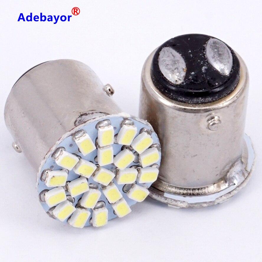 100X1157 P21/4 W P21/5 Вт 7528 BAY15D 22 3020 SMD 1206 автомобиль светодиодный фонарь указателя поворота Автомобильный Клин лампочка чистого белого цвета 12 v