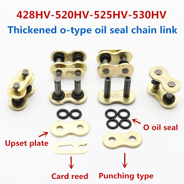 DID 520HV 520V Motorcycle Master Chain Connector Link O-rings Gold Heavy Duty