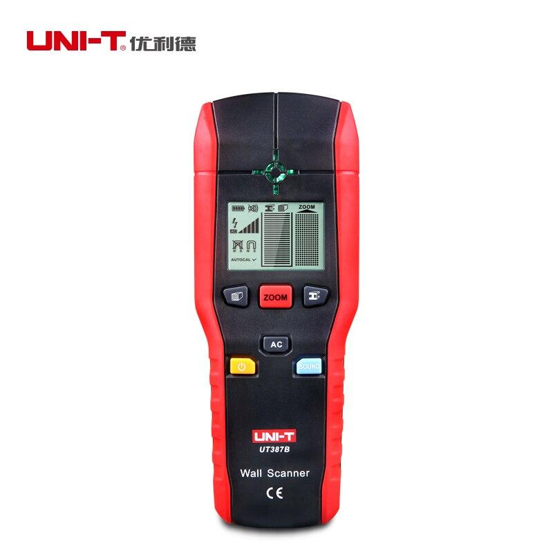 UNI-T UT387B детектор стены Многофункциональный ручной стене тестер металла, дерева кабель переменного тока Finder сканер Промышленные металлодет...
