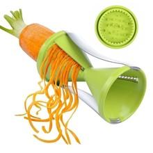 1 unids cocina gadget Embudos modelo Spiral slicer vegetales Shred dispositivo cortador de cocina herramienta rallador de zanahoria cocina Accesorios
