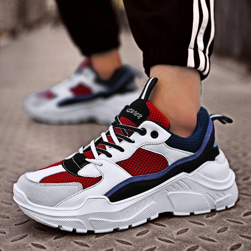 Harajuku Sneakers Man Sport Shoes Sports Women Sneakers For Running Shoes On The Big Sole White Dad Shoes Male Walk Obuv B-241