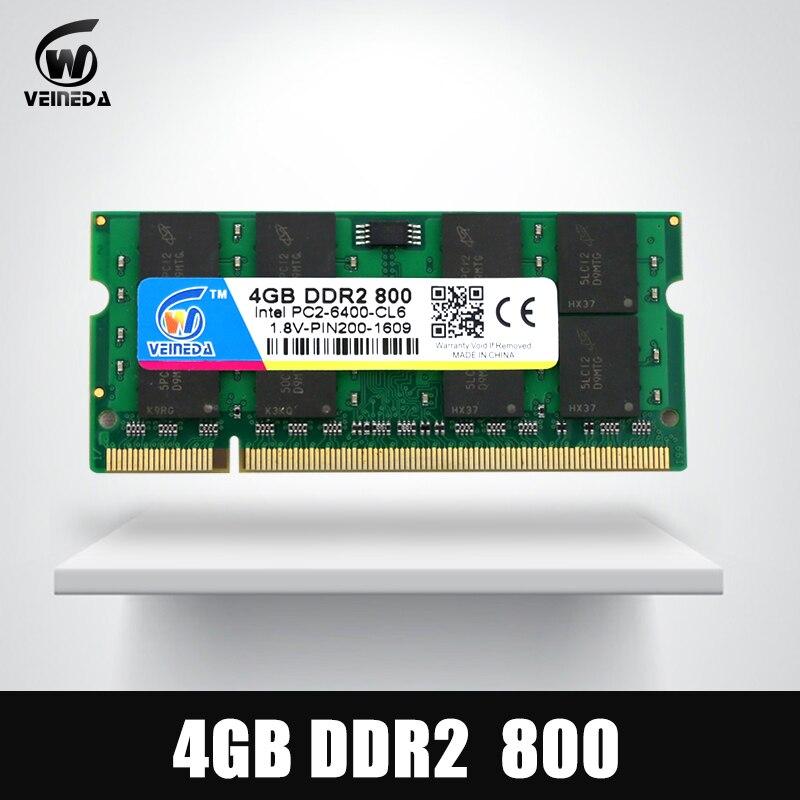 FleißIg Veineda Ddr2 Ram 1 Gb/2 Gb/4 Gb Memoria 4 Gb Ddr2 533 667 800 Mhz Sodimm Ram 2 Gb Ddr 2 800 Pc2-6400 Für Laptop Mobo Diversifiziert In Der Verpackung