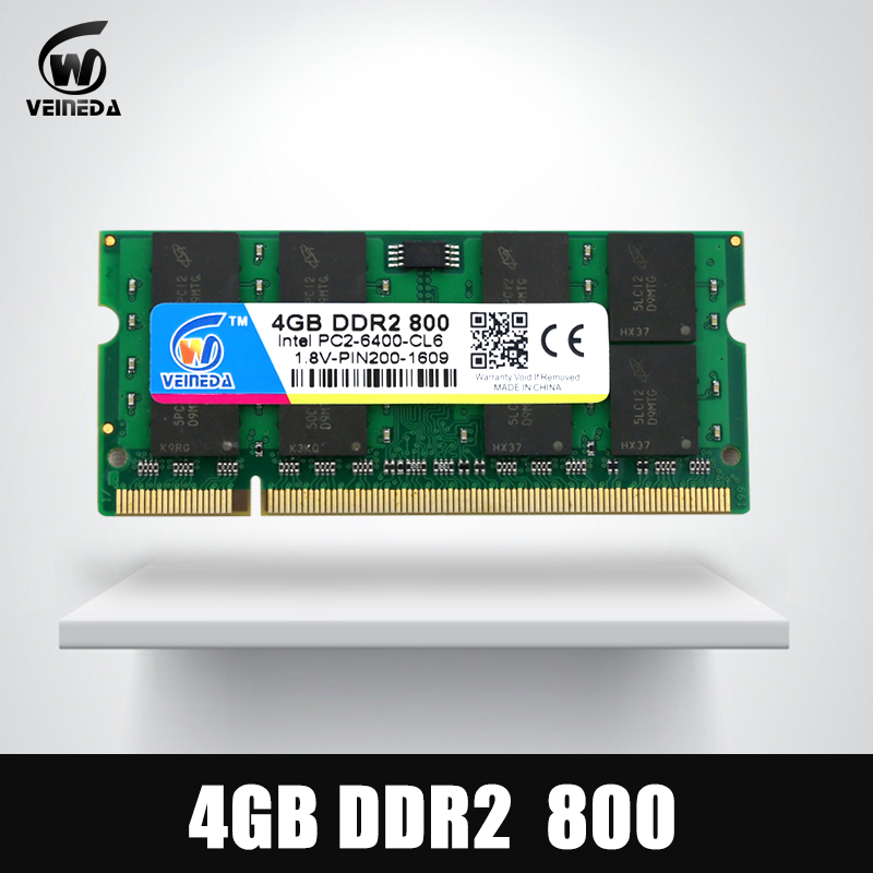 VEINEDA DDR2 Ram 1gb/2gb/4gb Memoria 4gb ddr2 533 667 800MHz Sodimm Ram 2gb ddr 2 800 PC2-6400 For Laptop Mobo kembona for intel and for a m d long dimm pc desktop ddr2 800 667 533 mhz 1gb 2gb 4gb ram memory memoria ddr2 2gb ddr2 4g