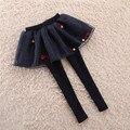 НОВАЯ детская одежда леггинсы брюки, мода кружева юбки брюки для девочки сетки pantskirt, девушки хлопок брюки для больших девочек