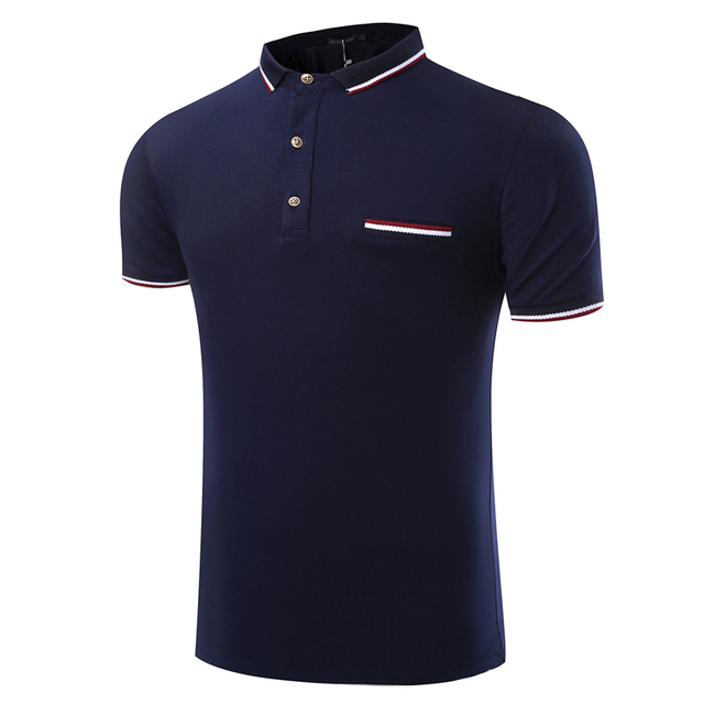 New Arrival Polo Men Summer Style Casual Breathable Polo Homme Outwear Hip Hop Solid Cotton Knitted Quality Men Polo Shirt