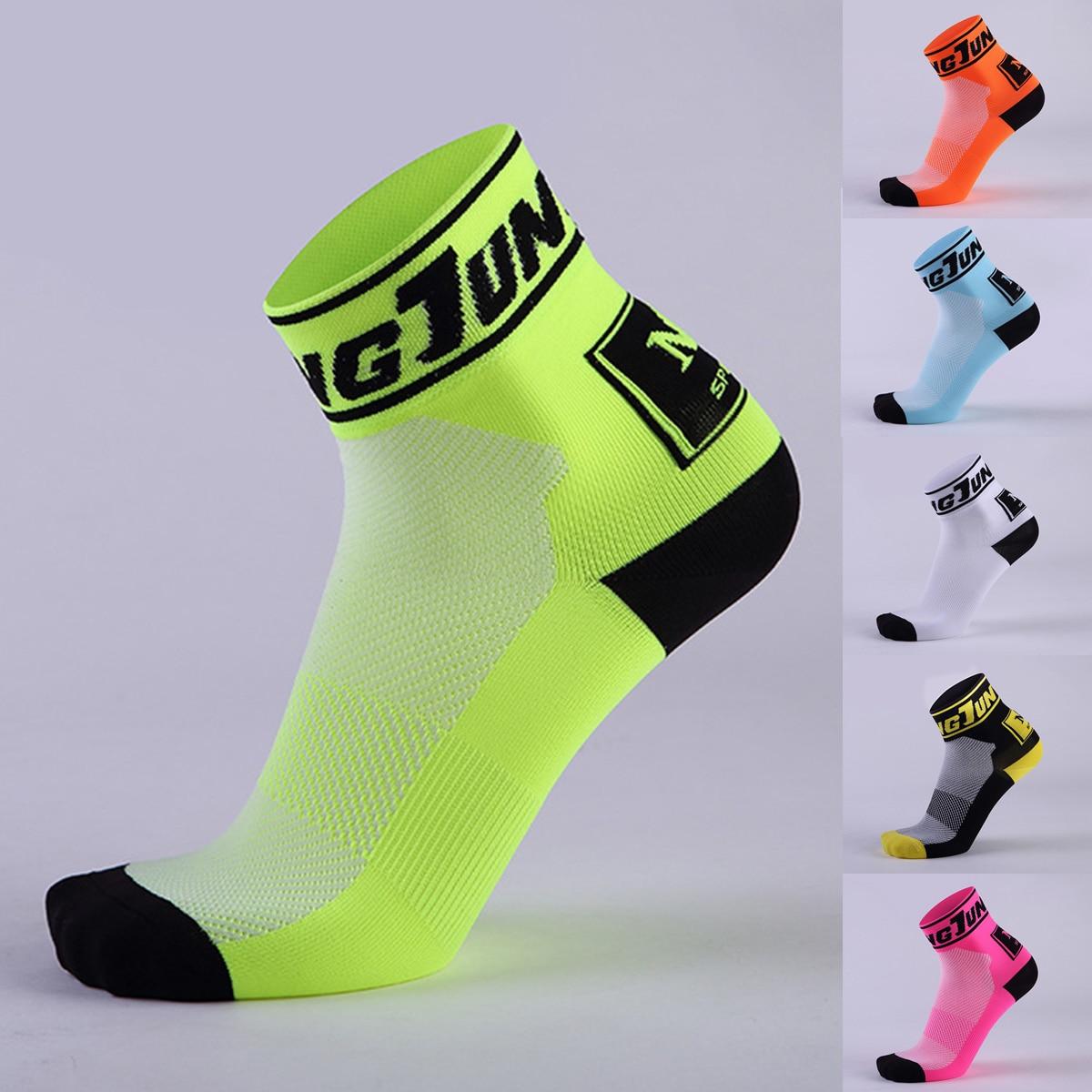 Unisex Men's Short Sport Socks Cycling Climbing Hiking Running Socks Quick Dry Socks Antiskid Outdoor Bicycle Cycling Socks