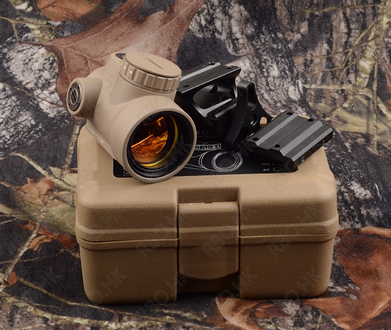 Tactical Trijicon MRO Style 1x Red Dot Sight Scope With Qd Picatinny Rail Mount Adatper TAN M9500