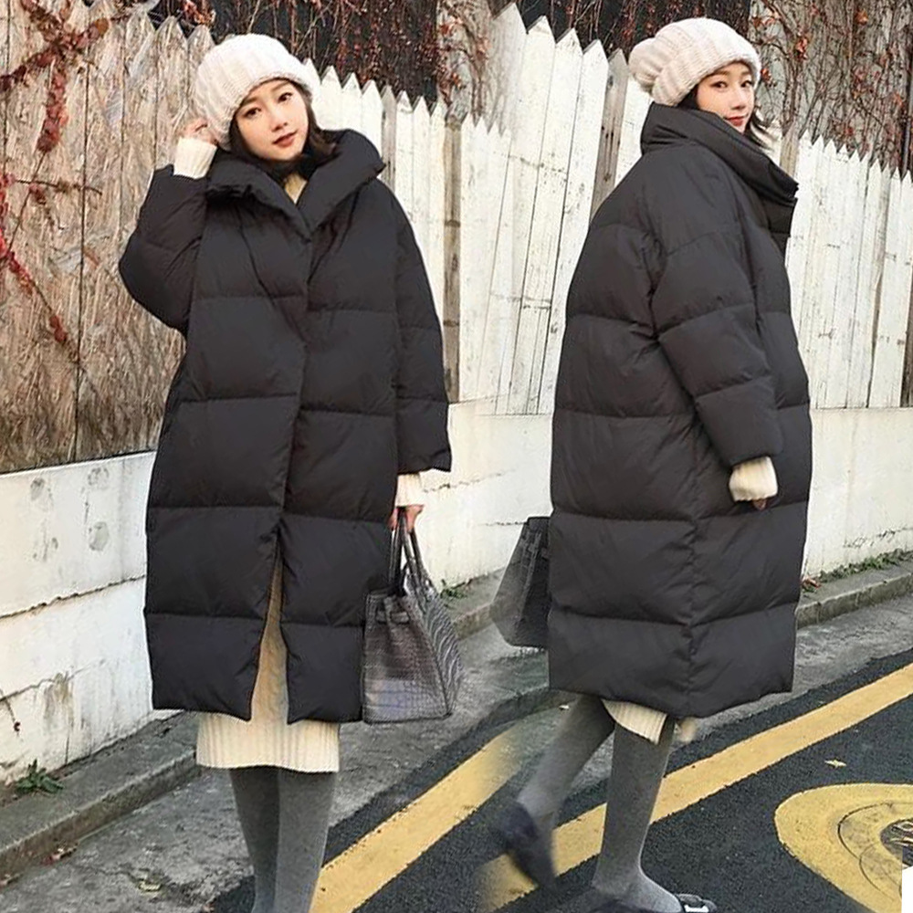 Winter Clothing Long Loose Solid Color Cotton Coat Warm Jacket Pregnancy Clothes Winter Pregnant Women Clothes winter solid color knitted tunic dresses pregnant woman bottoming knitwear long sleeve wool loose dress women clothes pullovers