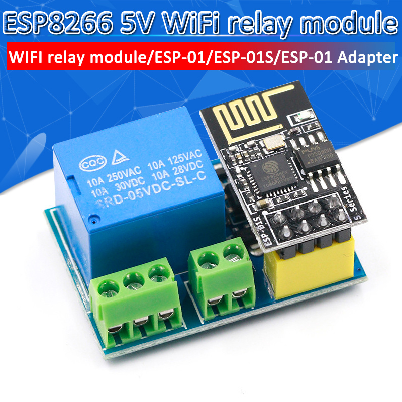 HOT SALE] ESP8266 ESP 01S 5V WiFi Relay Module Things Smart