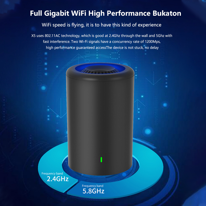Image 2 - Cioswi 5G Wireless Wifi Router USB High Power Through Wall Gigabit Dual Band High Speed Wi fi Access Point Cover 200m Square New-in Wireless Routers from Computer & Office