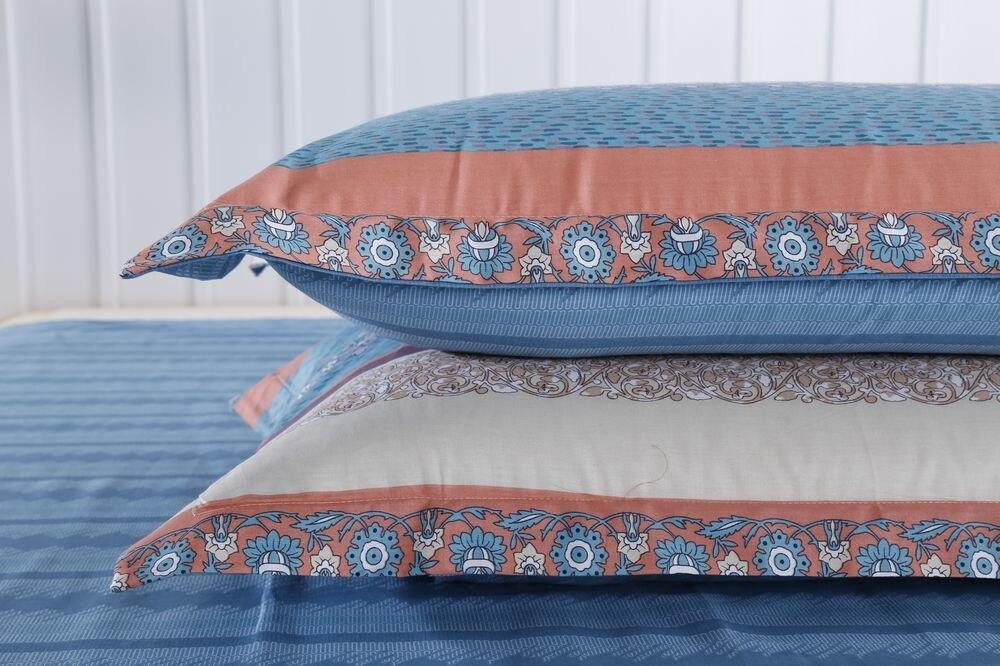 Клетчатый Комплект постельного белья с простыней для мальчика, 100% хлопок, размер королевы, геометрическое печатное домашнее пуховое одеяло... - 3