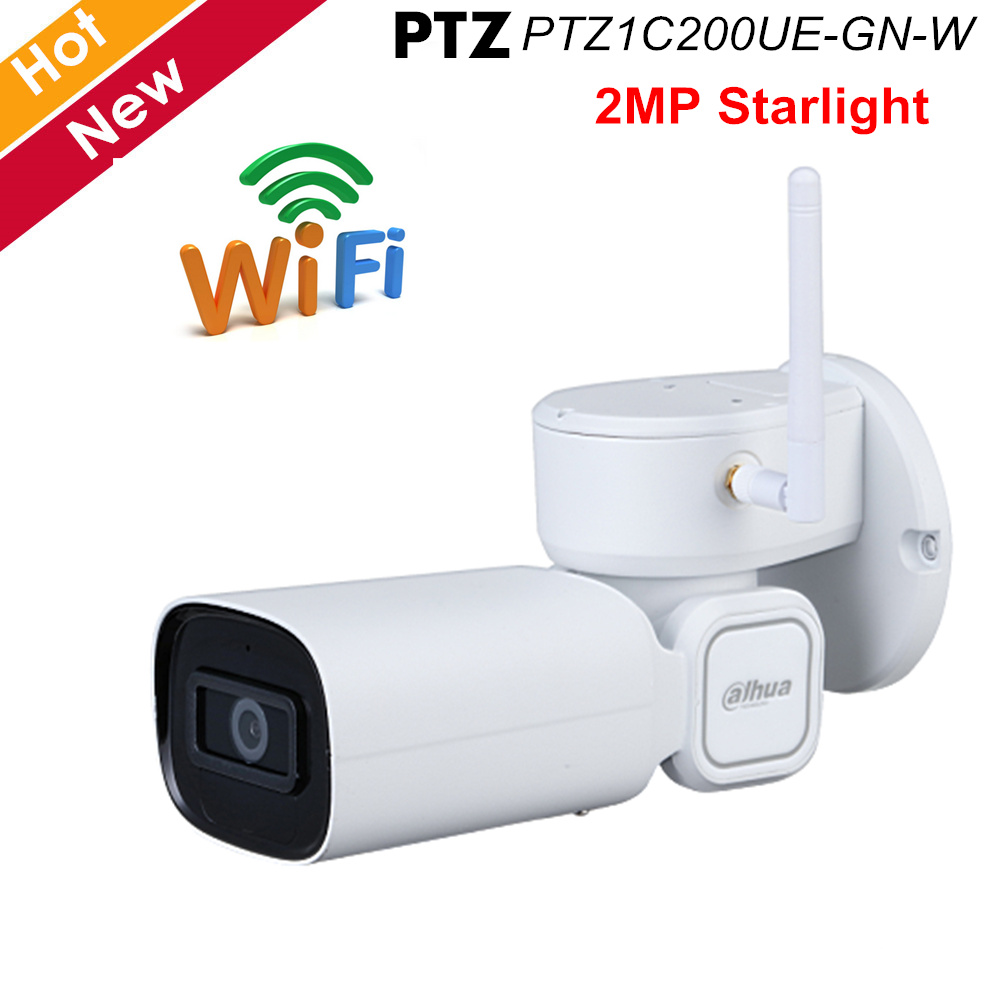 Dahua 2MP Starlight Network PTZ Camera 1/2.8 STARVIS Cmos WDR H.265 Support WiFi IR 20 Meters Waterproof IP66 Outdoor IP Camera