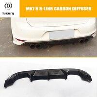 Carbon Fiber Rear Bumper Diffuser for Volkswagon Golf 7 MK7 R & R line Bumper 2015 2017 ( Not fit 7.5 )