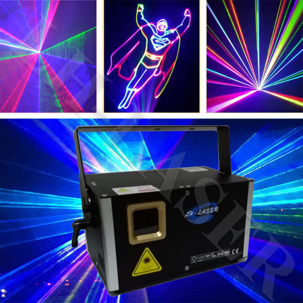 ILDA And PC Control Laser Light Projector RGB Colorful Show Starry Sky Christmas Lazer Lighting