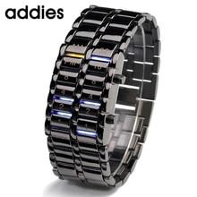 Waterproof 2016 New Fashion Men Women Lava  Electronic second generation Binary LED Bracelet Watch Wristwatch Clock Hours