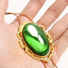 أنيمي البنفسجي Evergarden تأثيري قلادة Vintage قلادة الأخضر الماس اليشم الاكسسوارات امرأة المشجعين المجوهرات جمع الدعائم هدية