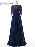 Mother Of The Bride Dresses 2018 New Elegant Scoop Neck Lace Formal Dresses Evening Party Gowns
