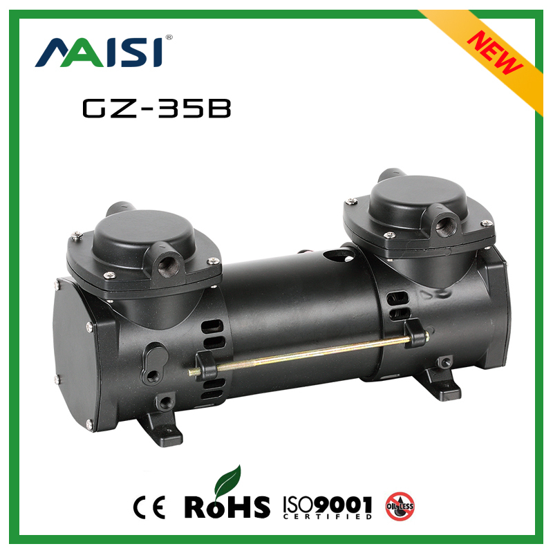 (GZ-35B) 12V (DC) 110L/MIN 160W oilless air vacuum pump