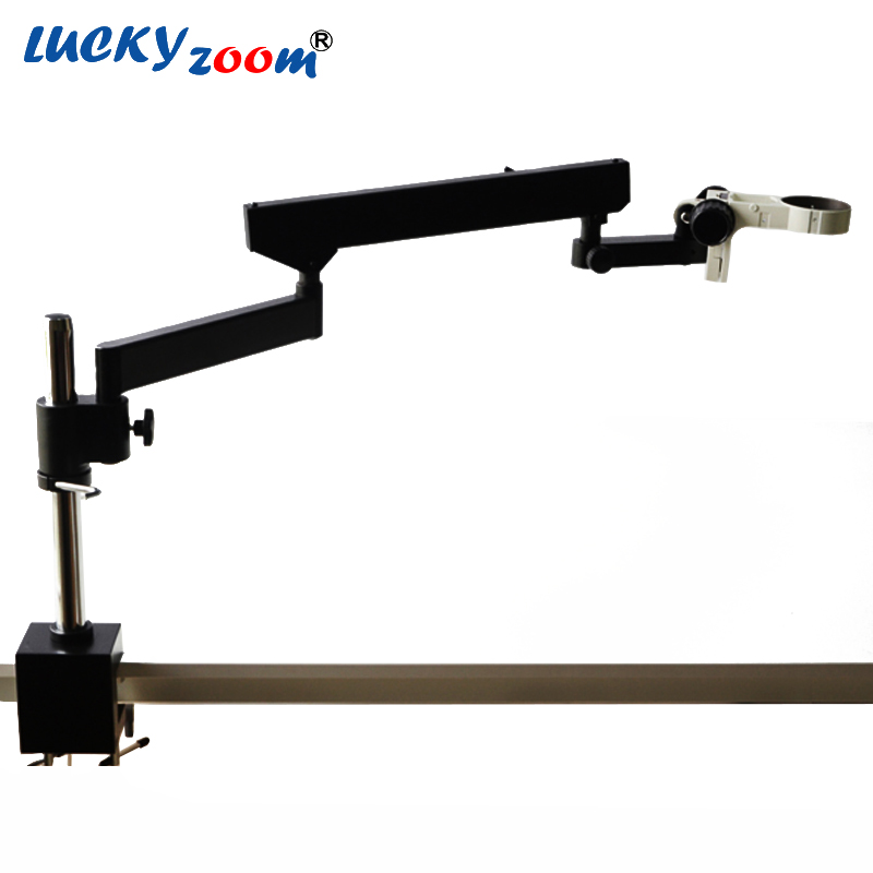 Lucky Zoom Brand ARTICULATING ARM PILLAR CLAMP STAND FOR STEREO MICROSCOPES+ A3 Microscope Accessories Free Shipping  цены