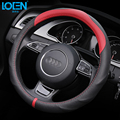 1PC New Arrival 5Colors Car Steering Wheel Cover Genuine Leather Size 38cm For Audi VW Skoda Chevrolet Ford Nissan etc. 95% Cars
