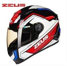 2016 Новый DOT ЗЕВС анфас мотоциклетный шлем Мотокросс шлемы мотоцикла ZS-811 made of ABS Размер M, L, XL, XXL