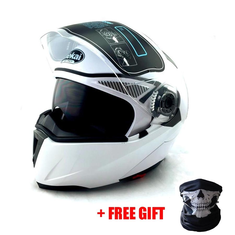 Prix pour NOUVEAU ARRIVENT DOT ECE autocollant JIEKAI 105 Flip Up casque de Moto/motocicleta casco Casques motocross racing casque M L XL XXL