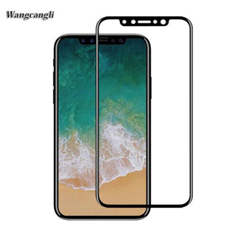 wangcangli for iPhoneX tempered glass 9H electroplated new (3D) 4d round full edge screen protector film security