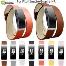 Ремешок из натуральной кожи для смарт часов fitbit inspire/inspire