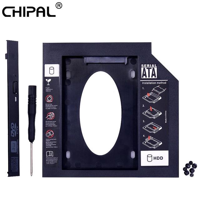 "CHIPAL Universal 2nd HDD Caddy 9,5mm SATA 3,0 para 2,5 ""9mm 7mm SSD caso disco duro carcasa para portátil DVD-ROM CD-ROM Optibay"