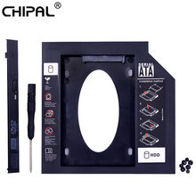 "CHIPAL Universal 2nd HDD Caddy 9,5mm SATA 3,0 para 2,5 ""9mm 7mm SSD caso disco duro carcasa para portátil DVD-ROM CD-ROM Optibay(China)"