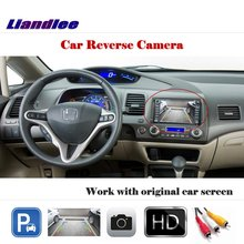 Liandlee Auto Rearview Reverse Parking Camera For Honda Civic 2011~2016 / Rear View Backup Camera Work with Car Factory Screen does civic engagement work