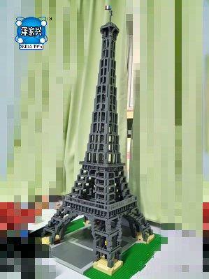 Hot Creator World Famous Architecture Eiffel Tower Paris France Lepins Building Block Model Bricks Educational Toys Collection loz mini diamond building block world famous architecture nanoblock easter island moai portrait stone model educational toys