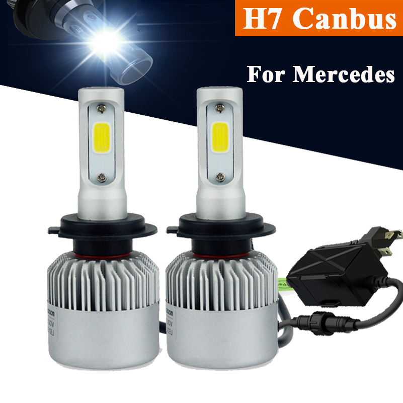 h7 canbus car headlights 72w high low beam led headlamps. Black Bedroom Furniture Sets. Home Design Ideas