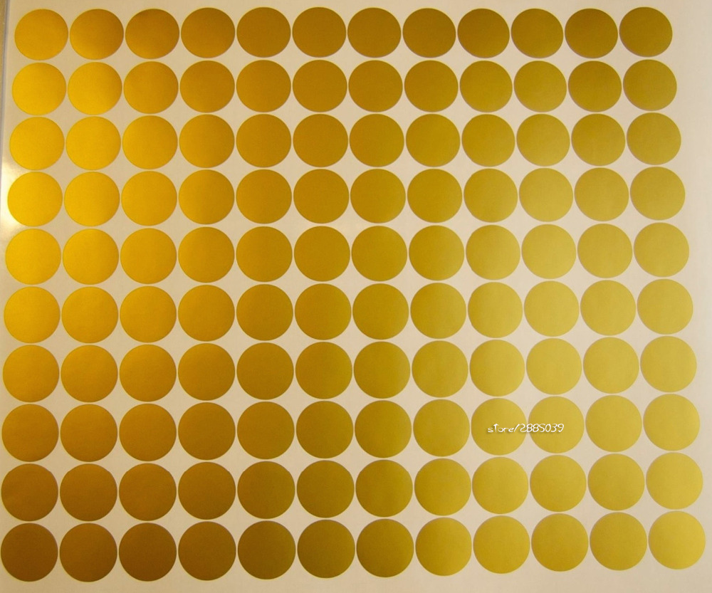 120pcs/set Gold Dot Wall Stickers Vinyl Wall Decals Decor Kids Room ...