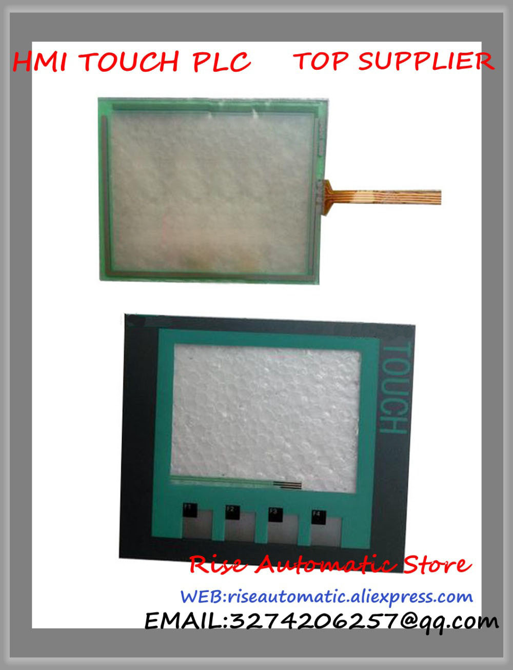 New for SIMATIC KTP400 4 Inch Touch Panel HMI 6AV6647-0AA11-3AX0 6AV66470AA113AX0 Keypad Membrane + Touch Glass 6fx2007 1ad03 mini handheld unit sinumerik simatic hmi keypad protective film membrance