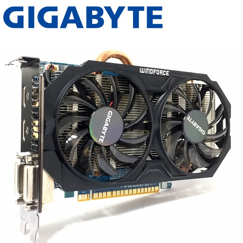 Gigabyte GTX750TI GTX 750TI 2GB D5 DDR5 128 Bit PC Desktop Graphics Cards computer Graphics Cards