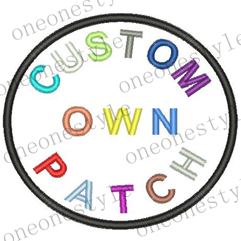 Free Shipping Custom Embroidery Your Logo Patch Custom Embroidered Patches Iron On Clothing Patch With Appliqued Fabric