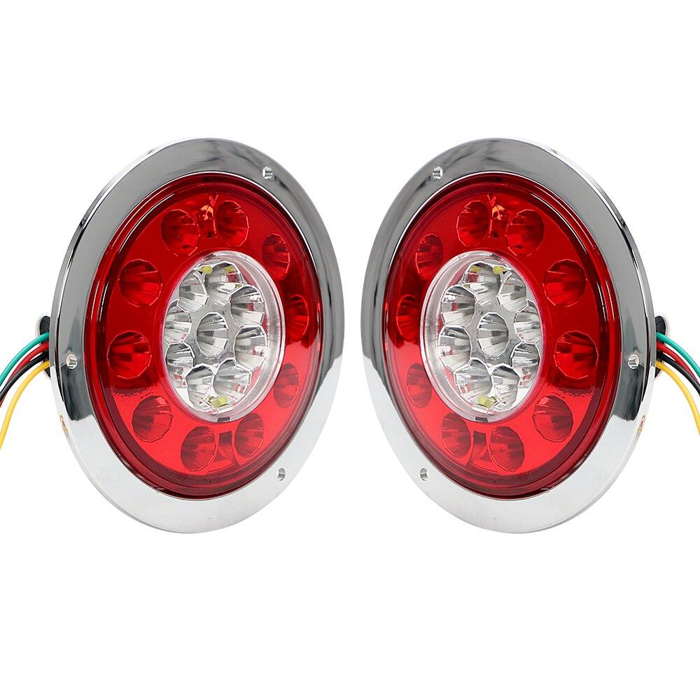 iTimo Car-styling LED Car Round Tail Light Turn Indicators Reversing Lamp Auto Brake Light Truck Trailer Turn Signal Lamp 19LED стоимость